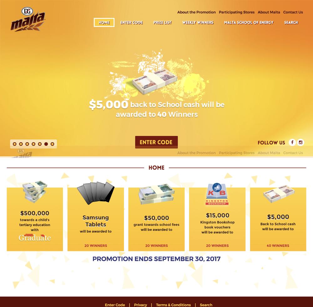 Malta Jamaica - Back to School Campaign Website