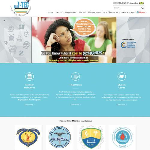 Jamaica Tertiary Education Commission Website
